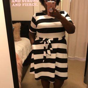 Lane Bryant x Beauticurve Striped Dress